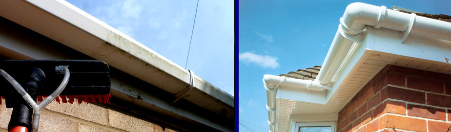 Fascia and soffit cleaning West Berkshire